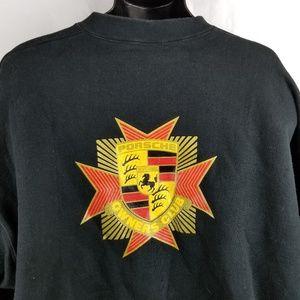 Vtg Porche Owners Club Spellout Sleeve Sweatshirt